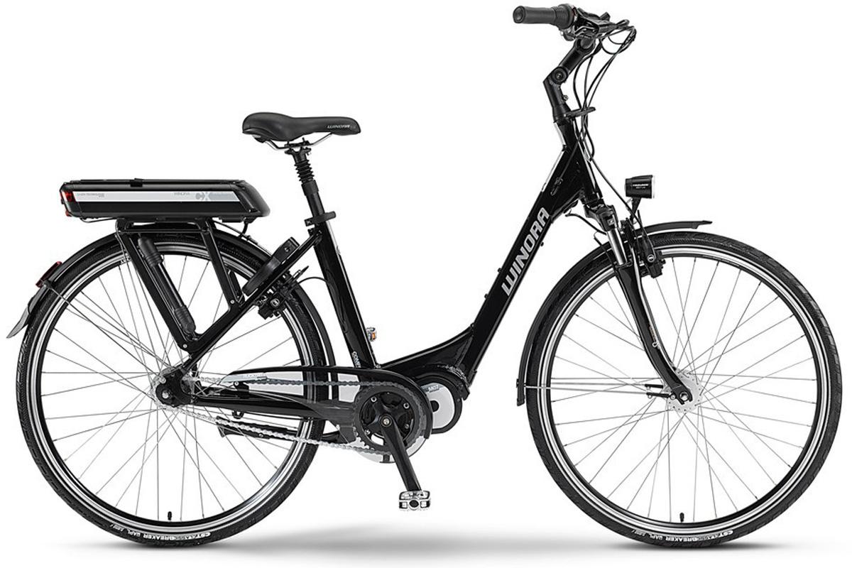 winora elektro fahrrad e bike 26 cx 7 schwarz mittelmotor. Black Bedroom Furniture Sets. Home Design Ideas