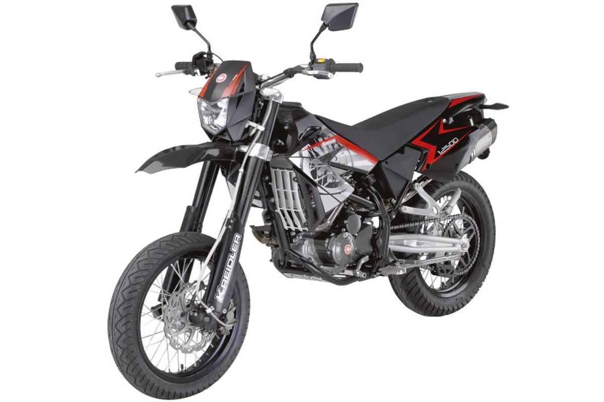 kreidler supermoto 125 ccm 7 ps 80 km h 1 zylinder 4 takt nur 3 km laufleistung. Black Bedroom Furniture Sets. Home Design Ideas