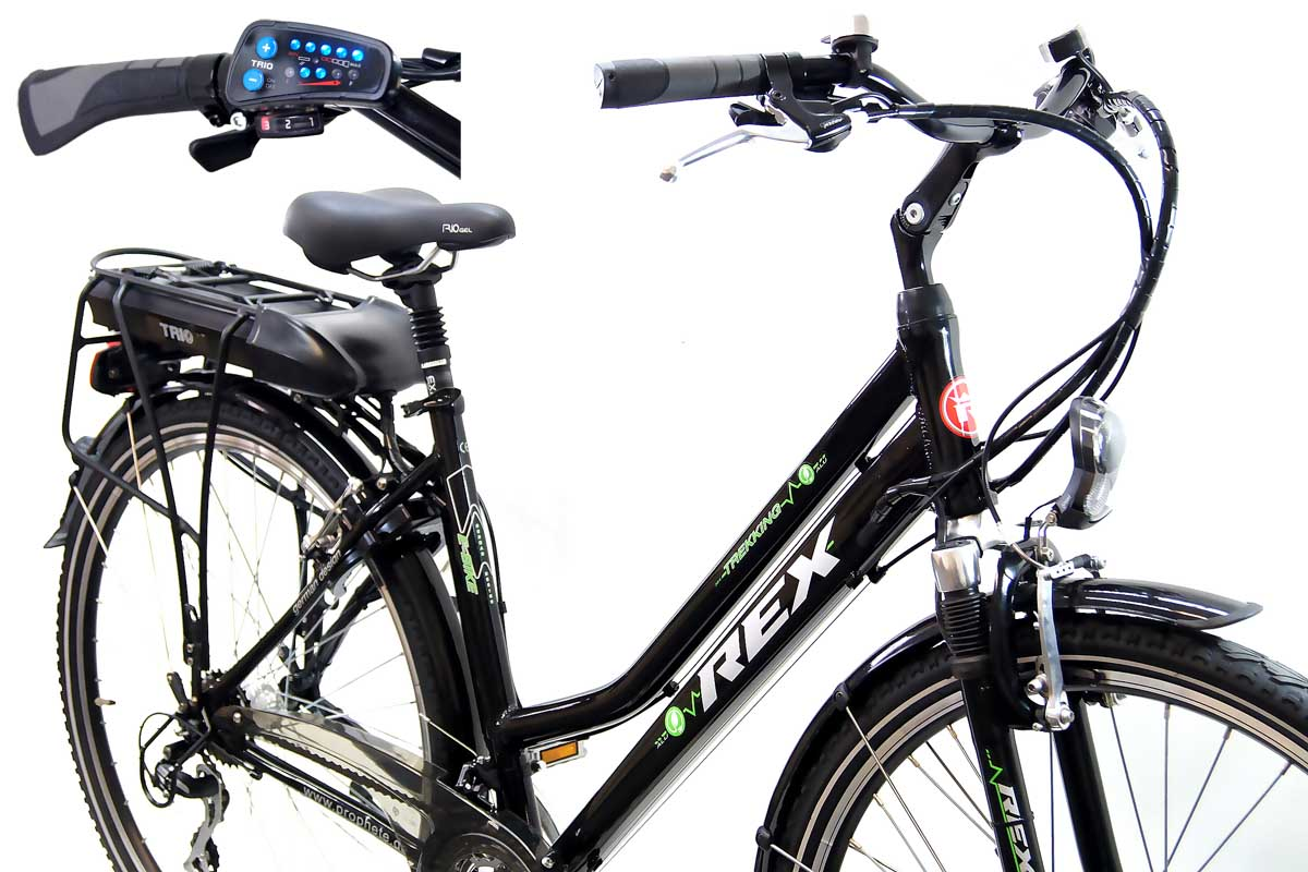 neu prophete damen alu elektro fahrrad e bike led 36 volt 21 gang shimano acera ebay. Black Bedroom Furniture Sets. Home Design Ideas