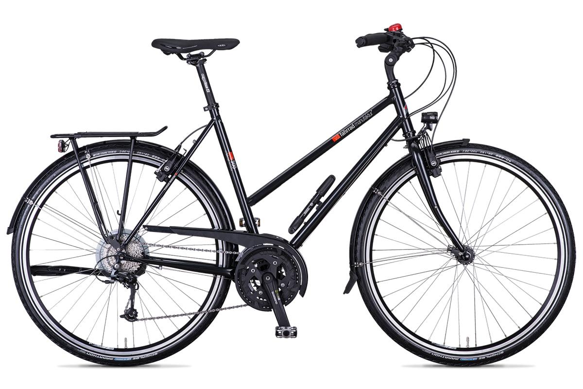 vsf fahrradmanufaktur damen trekking fahrrad t 300 ebony. Black Bedroom Furniture Sets. Home Design Ideas